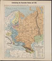 Karte der Vergrösserungen Russlands unter Peter dem Grossen und seinen Nachfolgern