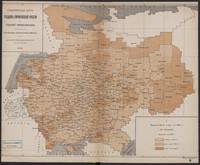 Schematičeskaja karta uězdov  evropejskoj Rossīi. Urožaja ovsa
